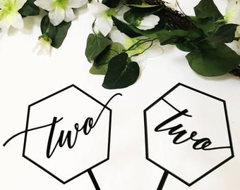 Geometric Number Cake Topper,two cake topper,Birthday Cake Topper,Wedding,Rustic Laser Cut Toppers, Acrylic Cake Topper,1st birthday,1 count