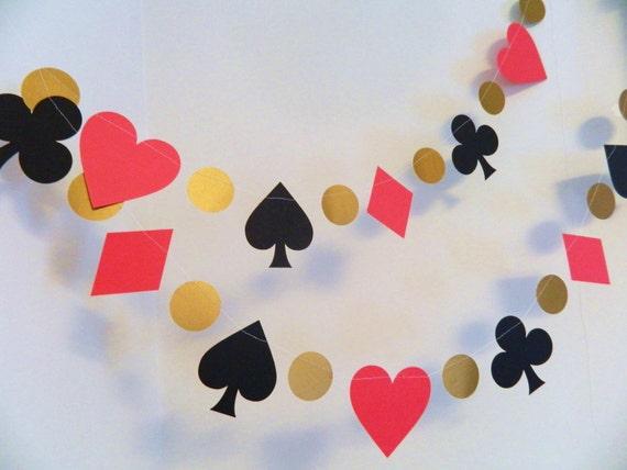 Vegas poker party decoration 6 foot alice in wonderland for Decoration poker