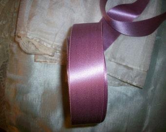 """1 yd. antique silk lilac rose soft 1"""" RARE"""