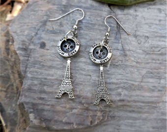 Mother's Day Gift - Paris Mode in the Spring Eiffel Tower Earrings - Ooh La La!