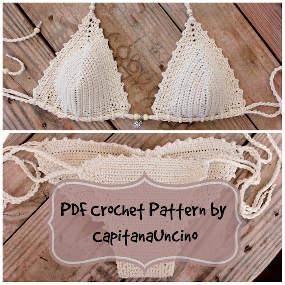 Pdf Crochet Pattern Naiad Crochet Bikini Top And Brazilian
