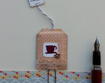 Vintage Tea Bag Paper Clip