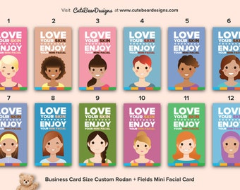 "Custom Business Card Size R+F ""Smile"" Mini Facial Cards (Choose One)"