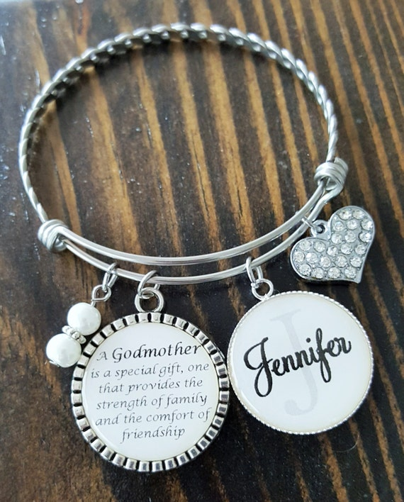 personalized shop bangle baptism bracelet godmother godparent eternitydesignsdria gift il gifts