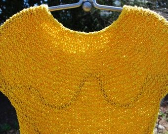 Hand Knit Cotton Sweater