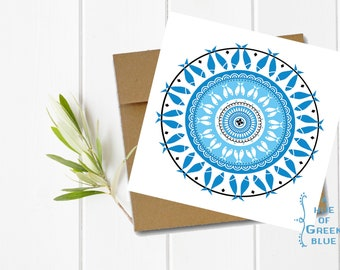 Concentric Fish Greeting Card with Kraft Envelope