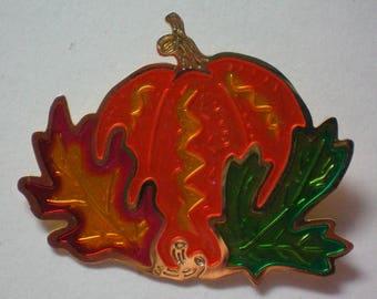 Metal Halloween / Thanksgiving / Fall Pumpkin Pin - 5586