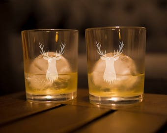 Stag Scotch & Bourbon Glass (Laser Etched)