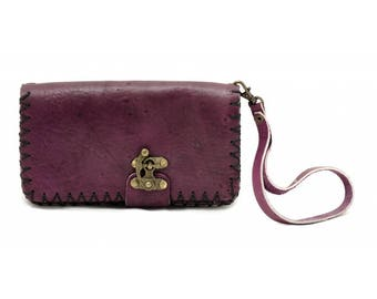 10502: Rozat Leather Purse (Purple)