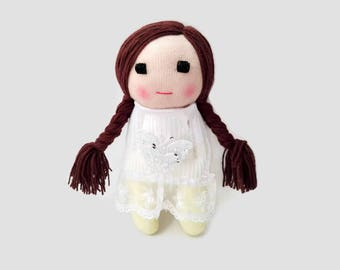 Sock Doll, Doll, Soft Doll, First Baby Doll, Baby Shower Gift, Little Girl Dolls, My First Baby Doll, Gift For Babies, Handmade Doll, Toy