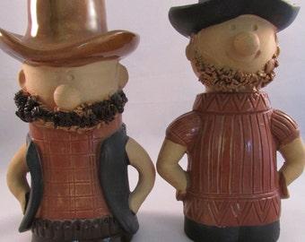 Vintage Holt & Howard Cowboy Hillbilly Salt and Pepper Shakers