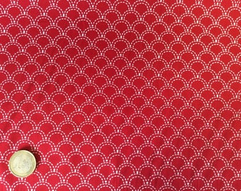High quality cotton poplin, Japanese geometrical print