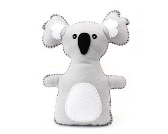 Koala Stuffed Animal Sewing Pattern, Koala Hand Sewing Pattern, Plush Koala, Koala Softie, Koala Stuffie