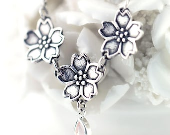 Sakura Cherry Blossoms Necklace