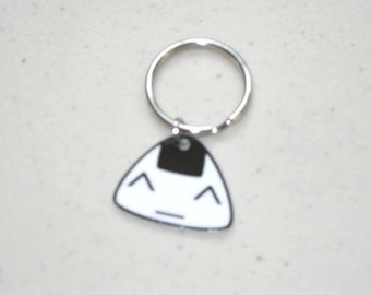 Super Kawaii Onigiri - Keychain, Charm, Necklace, Earrings, Stickers, Tattoos, Embroidered Patch, Magnets