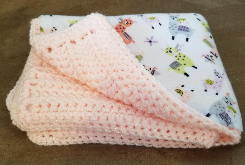 Coral crochet security blanket handmade security blanket