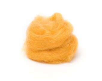 Marigold Wool Roving for Felting - 1 oz. Corriedale
