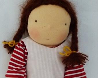 """Nuka - Doll, 33cm /13"""", Waldorf doll, cuddle doll, doll girl"""