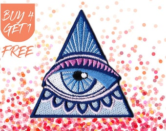 Hamsa Patch Eye Patches Iron On Patch Embroidered Patch Pyramid Eye of Providence