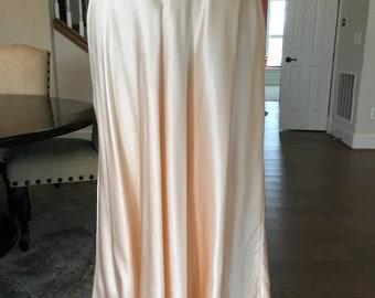 Pale Peach Silk Skirt