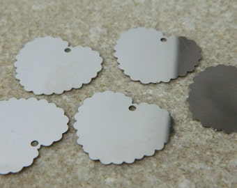 Scallop Stainless Steel Heart Blanks