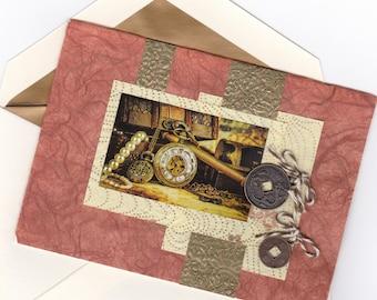 Mixed Media Buried Treasure Note Card