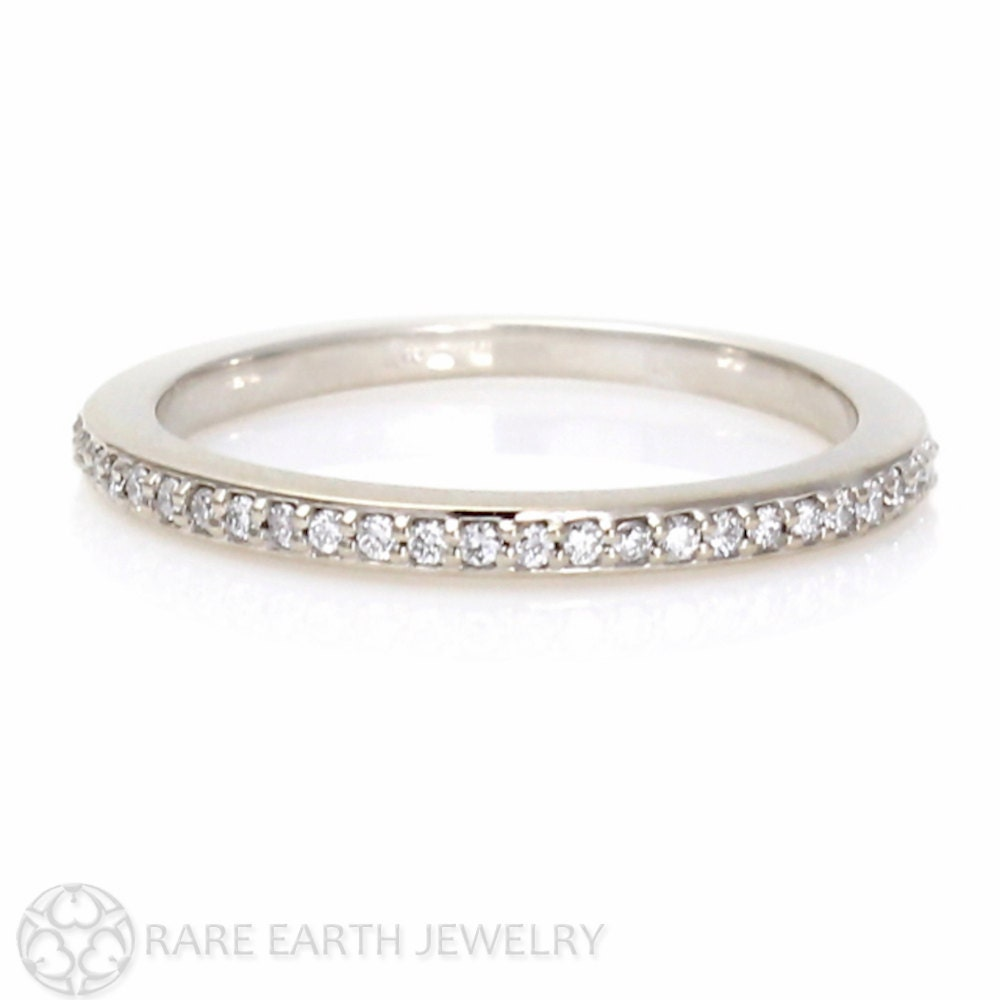 zirconia plated pave pav in cubic p over ring bands sterling silver gold eternity anniversary amp white sapphire band