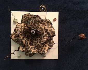 Leopard Modern Paper Flower