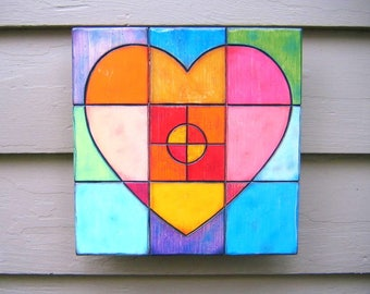 Warm Heart, Original Wood Wall Sculpture, Wood Carving, Heart Wall Art,, Contemporary Art, by Fig Jam Studio