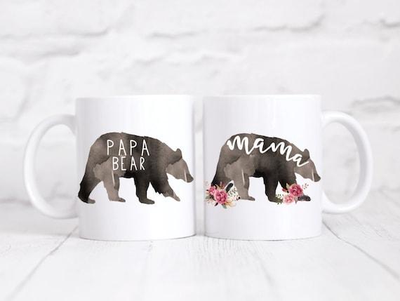 Mama & Papa bear mug set