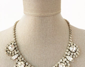 Vintage Choker, Bridal Choker, Wedding Choker, Art Deco Necklace, Bridal Necklace, Rhinestone Necklace, Crystal Necklace, Wedding Necklace