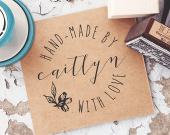 Made by Stamp, Handmade by Rubber Stamp, Custom Made by Stamp, Made with Love Tag, Custom Business Stamp, Shipping Stamp,  10319
