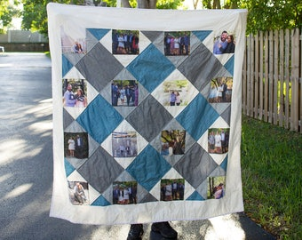 Diamond Photo in a Square Quilt