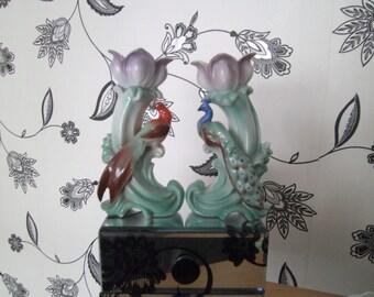 lovely flower and bird vases