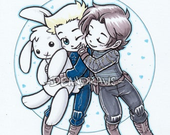 Stucky and bunny chibies (Print)