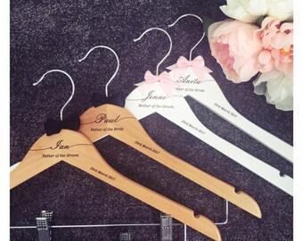 4 x Swish engraved hangers