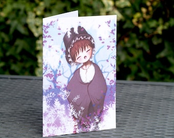 Welsh Girl Greetings birthday Card, ideal for St Davids Day