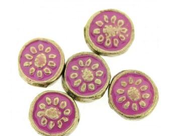 Pink Bollywood Circle Bead