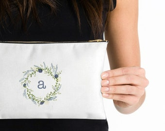 Personalized Name Cosmetic Pouch Custom Makeup Bag Zippered Bag Diaper Nappy Case Bridesmaid Gift Pencil Case Clutch Gift for Her