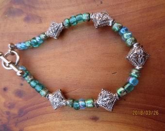 Teeny Tiny Green Bracelet