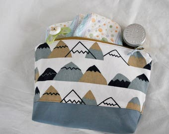 Moving Mountains Diaper Clutch | Pouch, Makeup Bag, Bag, Mountains, Mountain Print, Accessories, Baby Shower, Baby, Baby Boy