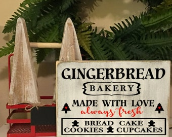 Gingerbread Bakery sign