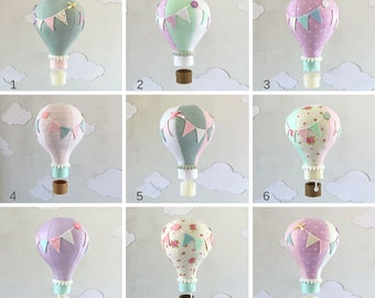 SALE! Single Hot Air Balloon Baby Mobile, hot air balloon decorations, hot air balloon nursery, Nursery Decor, nursery art, Baby Shower Gift
