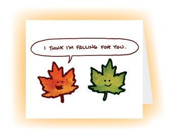 Falling Leaf Card