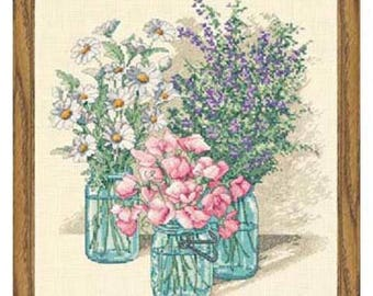 Cross Stitch Kit - Dimensions Wildflower Trio