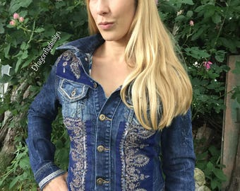 Jeans jacket, hippie jacket, festival fashion, jackets, wear,