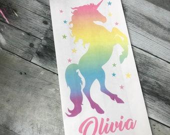 Unicorn party, Unicorn favor Bags, Unicorn Birthday Party, Rainbow Unicorn, Unicorn Party Favors, Goody bags, Treat Bags, LARGE BAGS