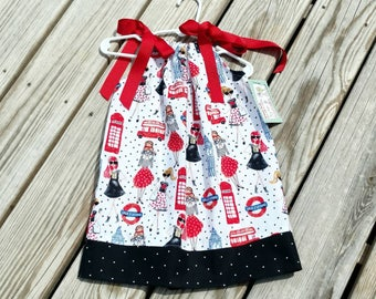 Pillowcase Dress - Spring Dress - London - Birthday Dress - Easter Dress - Sundress - Groovy Gurlz