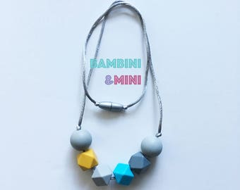 Silicone necklace | Breastfeeding sensory toy | Gift for mothers | Sensory baby toy | Necklace | Jewelry | Mommy Jewelry