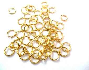 100 5mm gold jump rings